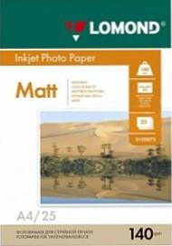 Фотопапір Lomond матовий ( формат А4 щільність 140 г/м2 одностороння матова ) 25 аркушів