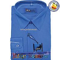 Однотонная рубашка для мальчика с длинным рукавом от 28 по 36 ворот (vr6-a-3)