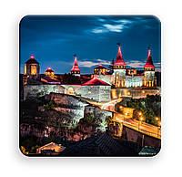 Виниловый cветоотражающий магнит 8х8см с Вашим фото