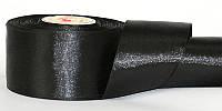 Атласная лента, ширина 2,5 см, 1 м, цвет черный