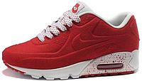 Женские кроссовки Nike Air Max 90 VT Tweed (найк аир макс 90) красные