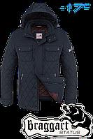 Куртка зимняя мужская на меху Braggart Dress Code - 1698A темно-синяя