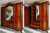 Спальня Париж (орех) (раскомплектовываем) Шкаф 4- дверный