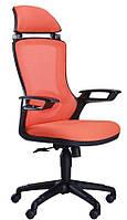 Кресло Boomer сетка оранжевая/каркас черный