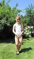 Купальник гимнастический тренировочный майка, трико (хлопок) р. 30, фото 1