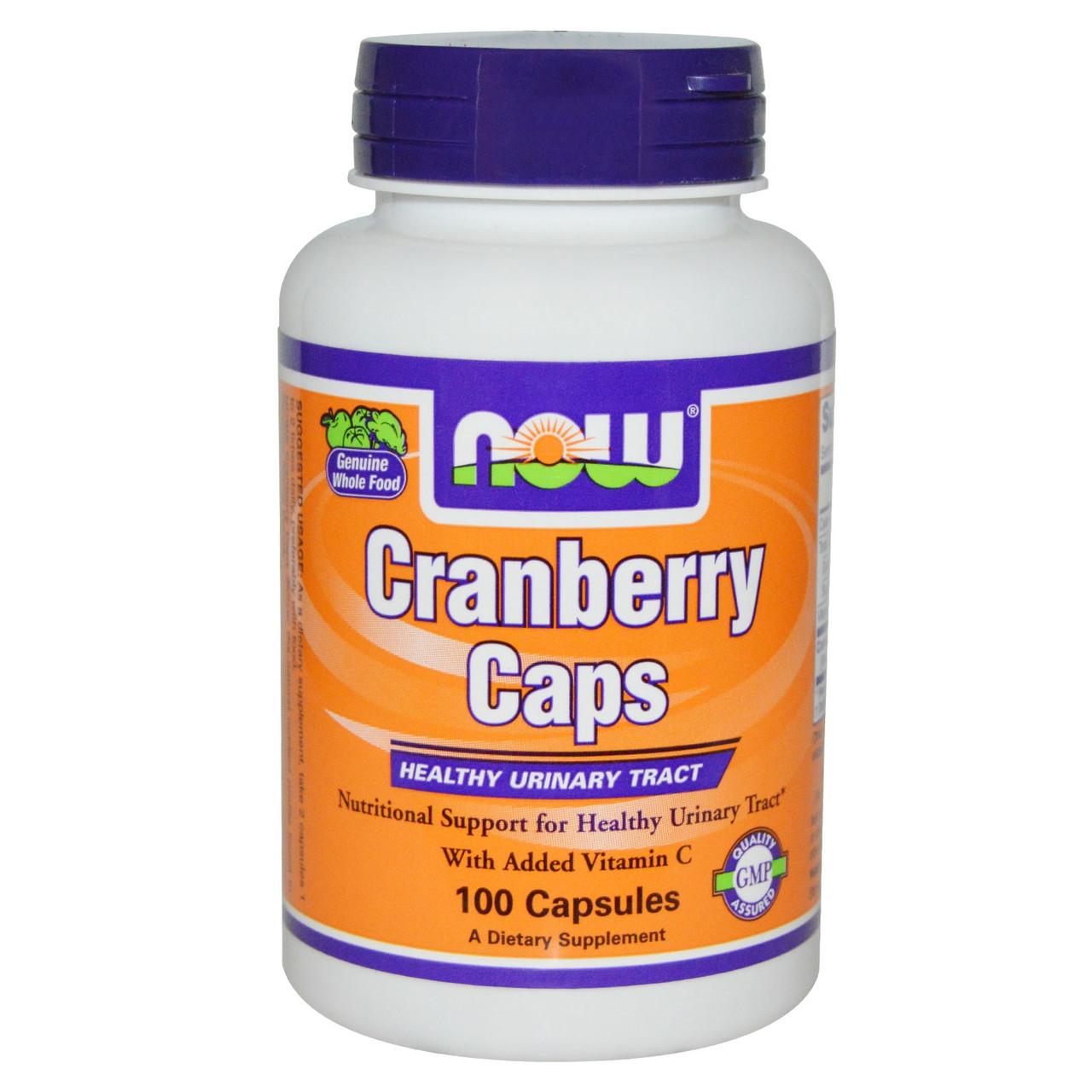 Клюква в капсулах, Now Foods, 100 капсул, 1400 мг. Сделано в США.