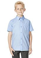 Школьная рубашка голубая с коротким рукавом на мальчика F&F (Tesco, Англия) , фото 1