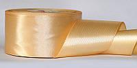 Атласная лента, ширина 2,5 см, 1 м, цвет бежевый