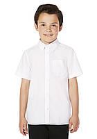 Школьная рубашка белая с коротким рукавом на мальчика 5-6-7-8-9-10 лет F&F (Tesco, Англия)