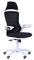 Кресло Boomer сетка черная/каркас белый