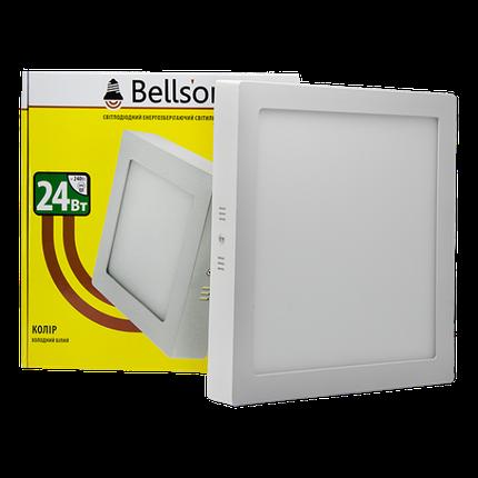"""Светодиодный светильник 24W """"квадрат"""" накладной Bellson, фото 2"""