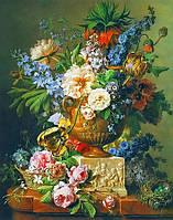 Фотообои из плотной бумаги на стену 96*138 см , 4 листов, Цветы, Натюрморт