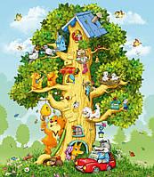 Фотообои из плотной бумаги на стену 240*276 см , 20 листов, Детские, Лесной Дом