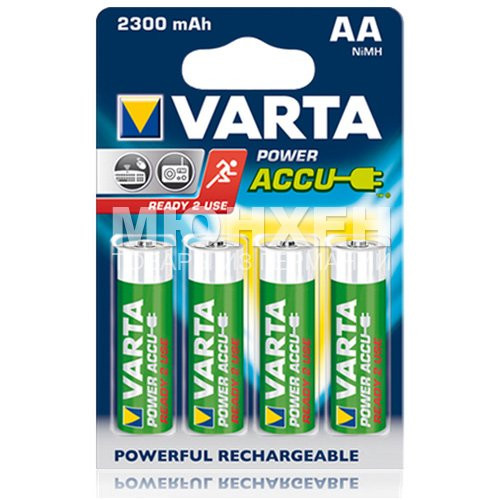 Аккумулятор Varta Power accus AA 2300 mAh 56726 x04 - Магазин «Мюнхен» в Харькове