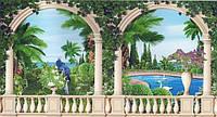 Фотообои из бумаги для стен 388*201 см , 24 листов, Пейзажи, Сад Шахерезады
