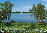 Фотообои из бумаги для стен 268*194 см , 16 листов, Пейзажи, На Волге