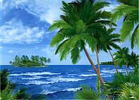 Фотообои из бумаги для стен 194*134 см , 8 листов, Моря, реки, озера, океаны, Багамские Острова