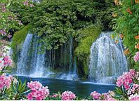 Фотообои из бумаги для стен 194*134 см , 8 листов, Пейзажи, Водопад, Лазурный Блюз
