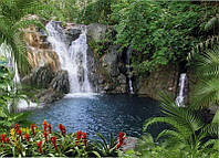 Фотообои из бумаги для стен 194*134 см , 8 листов, Пейзажи, Водопад, Чаша Афродиты
