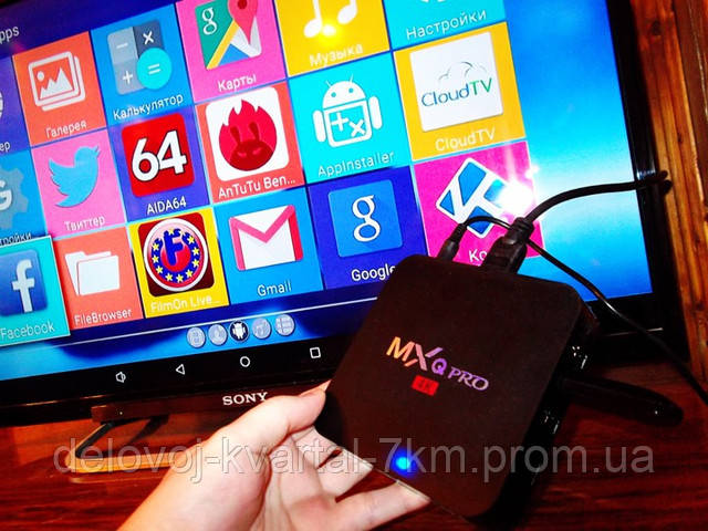 Приставка смарт MX PRO Q 4K TV BOX Internet TV