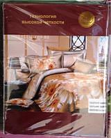 Постельное белье 5D комплект (размер евро 200*220) Сатин, фото 1
