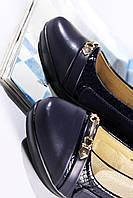 Женские туфли синие