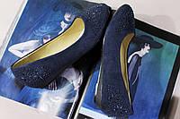 Удобные синие балетки