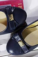 Темно-синие балетки