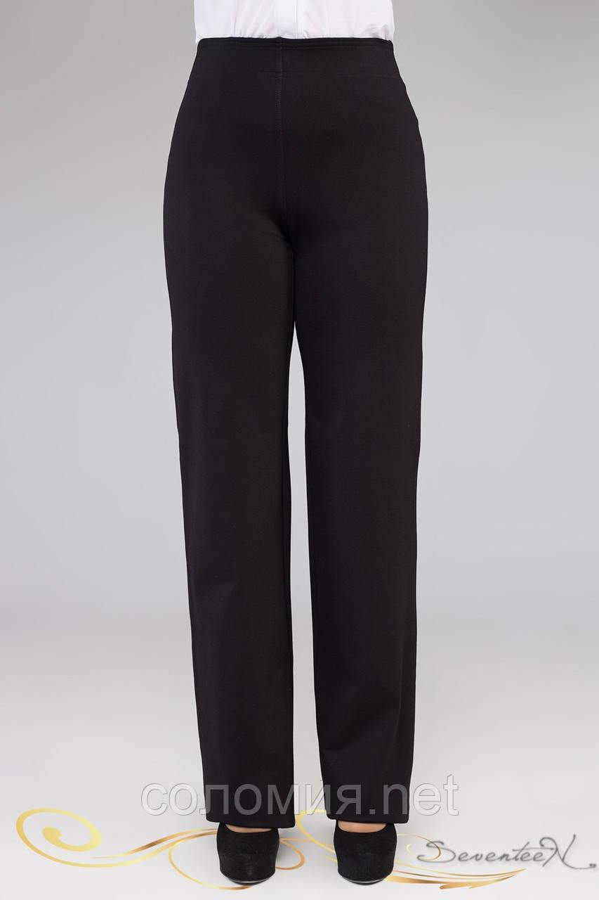 Свободные классические деловые брюки черного цвета