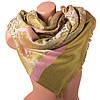 Светлый женский двусторонний палантин из пашмины 186 на 72 см ETERNO (ЭТЕРНО) ES0406-8-37 зеленый