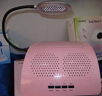 Вытяжка настольная (пылеулавливатель) для маникюра с подсветкой Simei 858-6