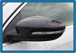 Накладки на зеркала Volkswagen Passat CC (натуральный карбон)