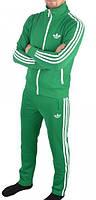 Спортивный костюм Adidas, зелёный костюм,с лампасами ф178