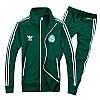 Спортивный костюм Adidas, зелёный костюм,с лампасами ф179