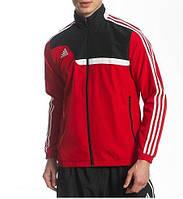 Спортивный костюм Adidas, красный верх, черный низ, с лампасами ф184