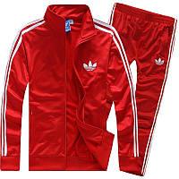 Спортивный костюм Adidas, красный костюм, с лампасами ф190