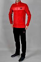 Спортивный костюм Adidas, красный верх, черный низ,  ф200