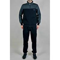 Спортивный костюм Adidas, черная кофта с тёмно-серым верхом, черные штаны,с лампасами ф236