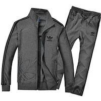 Спортивный костюм Adidas, темно-серый костюм, с лампасами, ф244