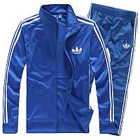Спортивный костюм Adidas, голубой костюм, с лампасами, ф283