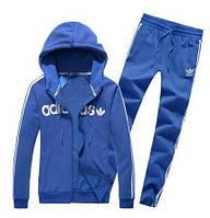 Спортивный костюм Adidas, голубой костюм, ф282