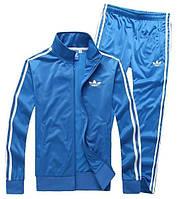 Спортивный костюм Adidas, синий костюм, с лампасами, ф284