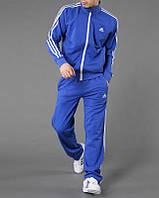 Спортивный костюм Adidas, голубой костюм, с лампасами, ф297