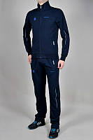 Спортивный костюм Adidas, тёмно-синий костюм, с лампасами, ф298