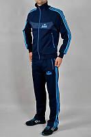 Спортивный костюм Adidas, синий костюм, с голубыми лампасами, ф296