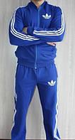 Спортивный костюм Adidas, голубой костюм, с лампасами, ф302