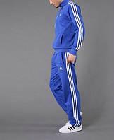 Спортивный костюм Adidas, голубой костюм, с лампасами, ф305
