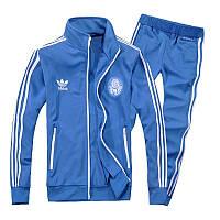 Спортивный костюм Adidas, голубой костюм, с лампасами, ф311