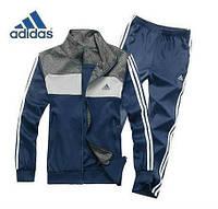 Спортивный костюм Adidas, темно-серая кофта с серым верхом, темно-серые штаны,с лампасами ф321