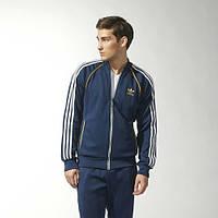 Спортивный костюм Adidas, темно-синий костюм, ф324